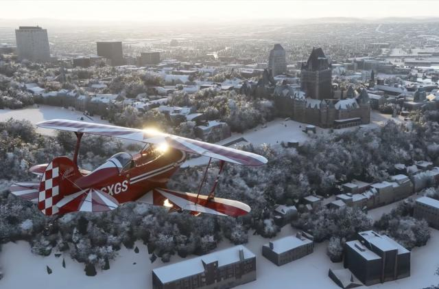 Asobo Studio shows off real-time snow in 'Microsoft Flight Simulator'