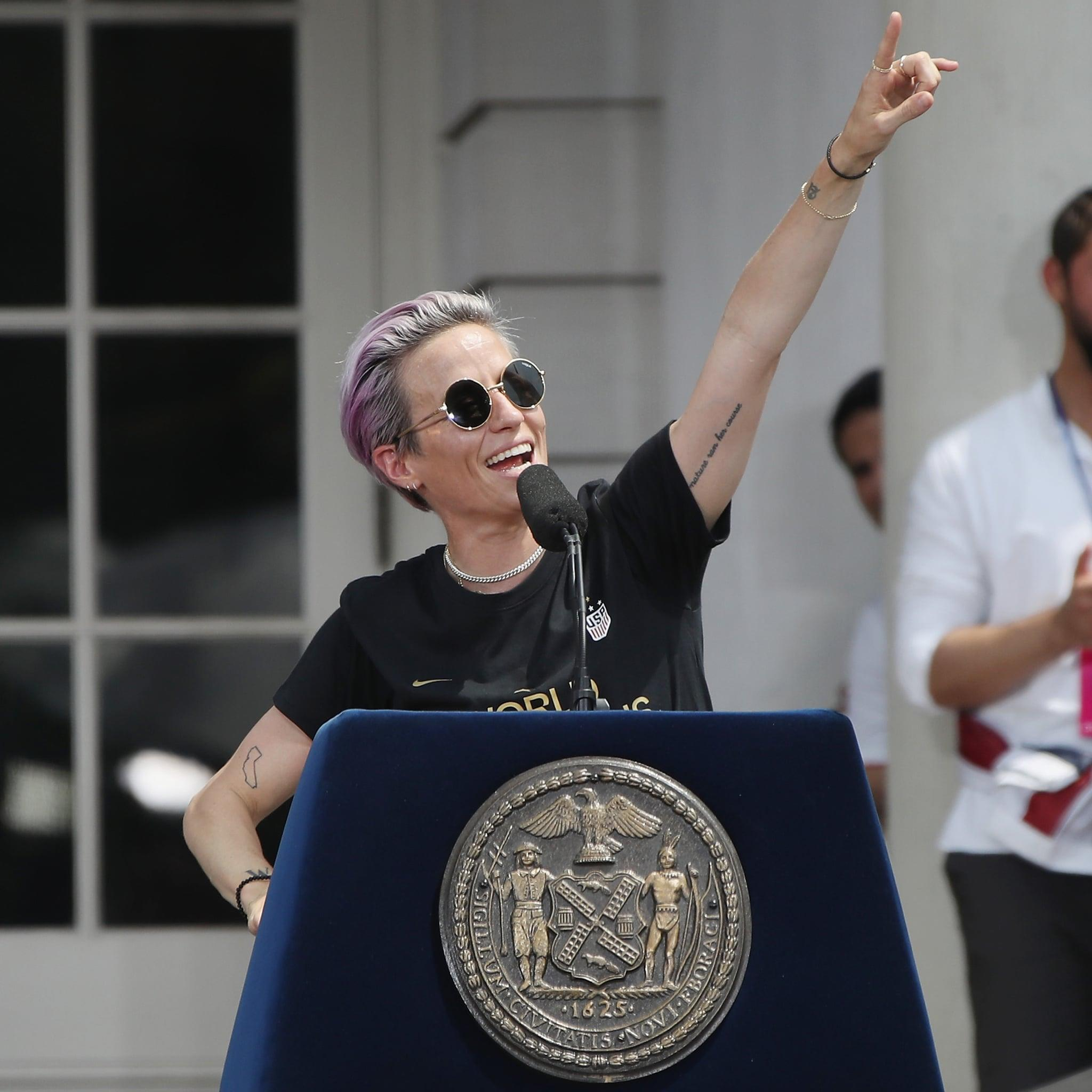 """Megan Rapinoe's Speech, Addressed to Haters and Supporters, Will Make You Want to """"Be More"""""""