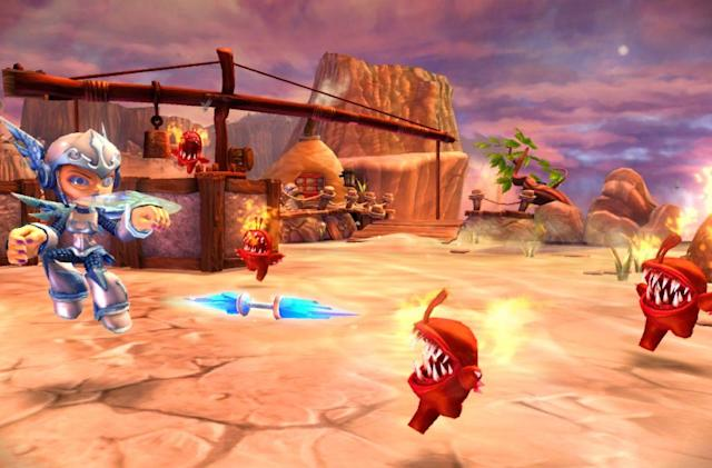 These Skylanders Giants videos and screens are larger than life