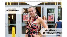 Look des Tages: Dominique Swain im verspielten Midi-Kleid