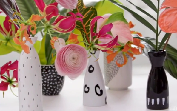 These Easy To Paint Diy Flower Vases Are So Simple Anyone Can Make