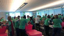 Express Scripts post-merger gift to St. Louis begins with 3,000 food-filled backpacks
