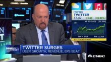 Cramer: There's a lot to like about Twitter's earnings
