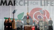 Trump se convierte en el primer presidente norteamericano en marchar en contra del aborto
