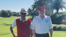 Kid Rock wore American flag pants to play golf with 'so down to earth' Trump: 'Proof that money can't buy class'