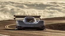 Romain Dumas breaks Pikes Peak record with VW I.D. R electric racecar