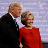Donald Trump on the defensive after combative debate with Hillary Clinton