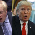 Coronavirus: Boris Johnson revealed fears over lack of ventilators in call after his diagnosis, says Trump