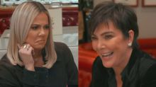 Khloé Kardashian and Kendall Jenner cringe as Kris Jenner talks about her sex life