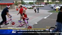 Viejas tribal firefighters go shopping for needy kids