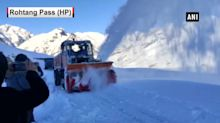 Snow-clearance operation underway in HP's Rohtang Pass