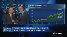 Dow, S&P and Nasdaq on pace for third week of gains