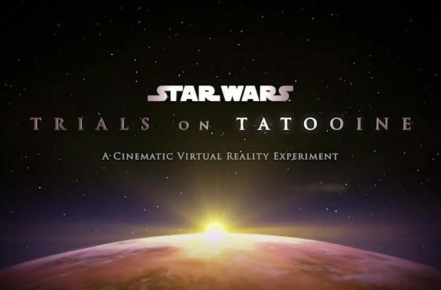 'Star Wars: Trials on Tatooine' VR experiment revealed