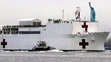 El buque hospital que Trump mandó a Nueva York solo tiene a 20 pacientes