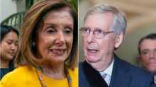 Pelosi Turns Reporter's Gun Control Question Into A Repudiation Of McConnell