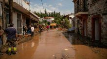 Five dead, one missing as floods hit Greek island