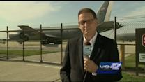 Military refueling plane makes safe landing after engine trouble
