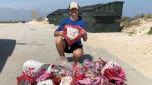 More than 60 Valentine's Day balloons wash up on beach