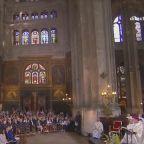 Catholics celebrate Easter Sunday Mass at Saint Eustache church in Paris