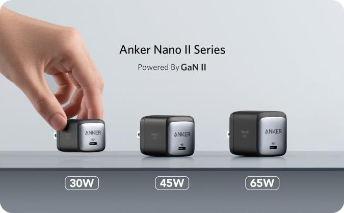 Anker GaN Nano II chargers