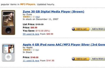 Brown Zune now Amazon's #1-selling DAP