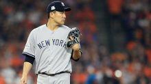 Masahiro Tanaka hit in head by Giancarlo Stanton line drive during Yankees camp