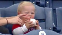 Baby Trying To Eat A Phillies Home Run Is 'Absolute Cutie.' Team Agrees.