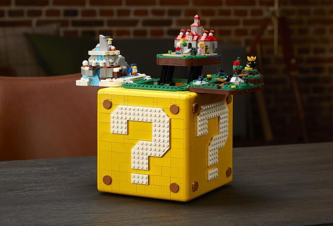 Nintendo and LEGO team up for a foldout Super Mario 64 block set