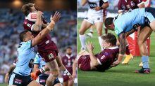 Queensland seethe over 'illegal' tackle that KO'd Cameron Munster