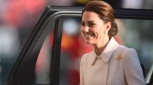 Kate Middleton's All-White Look Makes Us Want to Wear Coats in June