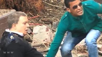 Raw: Egyptians Flee After University Explosions