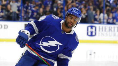 Lightning's all-Black line makes NHL history