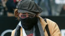 Johnny Depp y su look de camuflaje irreconocible en el Festival de San Sebastián