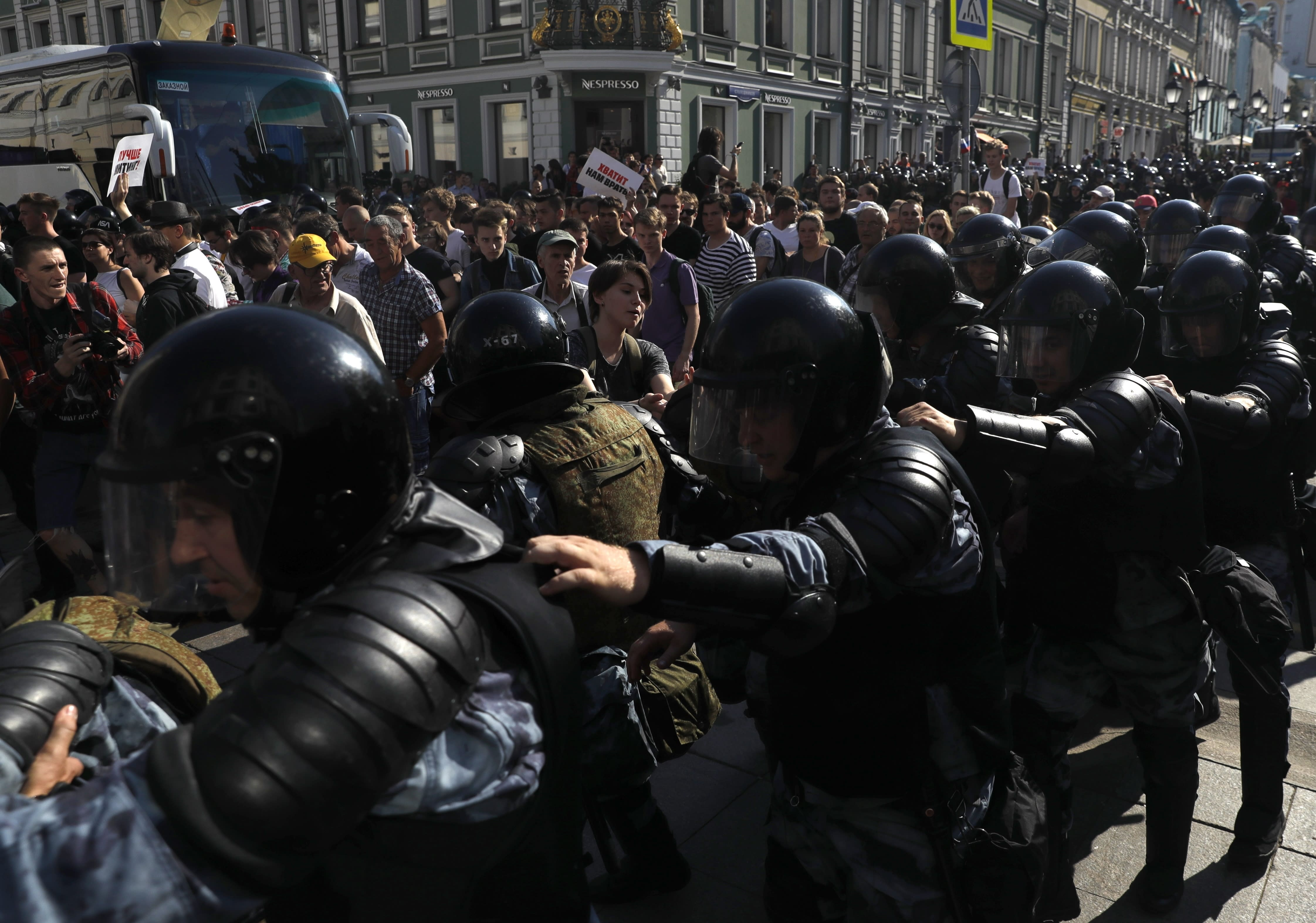 The Latest: Putin critic sent to hospital for severe allergy