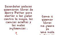 Harry Potter, a la hoguera polaca, por hereje