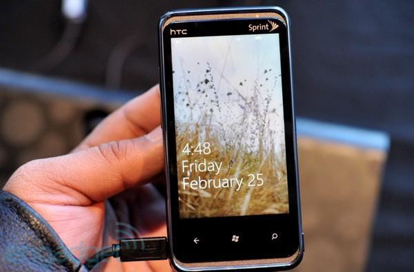 Sprint HTC Arrive with Windows Phone 7 copy and paste first hands-on! (video)