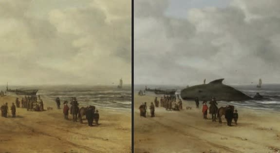 Hidden Beached Whale Revealed in 17th-Century Dutch Painting