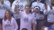 Humboldt player gets ovation at Wild-Jets game
