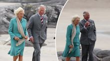 Camilla goes barefoot but doesn't break royal protocol
