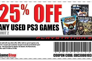 Save 25% off used PS3 games at GameStop again
