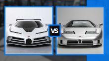Bugatti Centodieci vs. EB110, comparamos al 'padre' y al 'hijo'