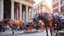 Rome's horse-drawn carriages labelled 'animal abuse' after video shows horse falling in the street