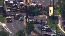 USA, cedimento di un ponte sull'autostrada di Washington D.C.