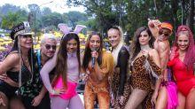 Thiago Martins, Gretchen e mais famosos curtem bloco de Anitta em SP