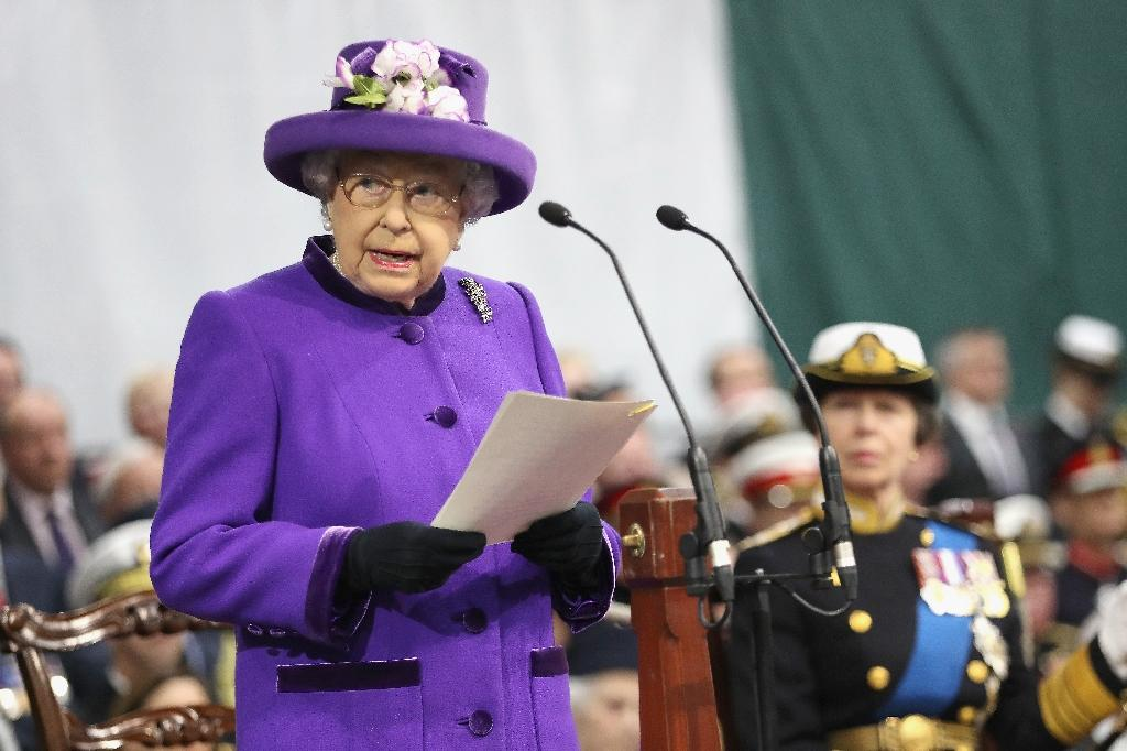 Queen inaugurates new 'best of British' aircraft carrier