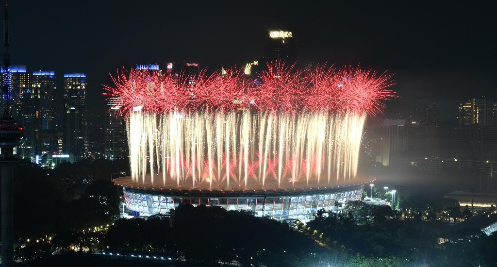 Indonesia is hosting one of the world's biggest sporting events. (AFP Photo/BAY ISMOYO)