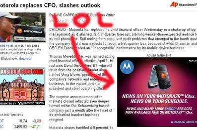 Motorola gives bleak outlook, plays musical chairs with execs