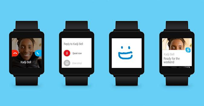 Skype dons Android Wear support