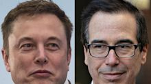 Mnuchin and Musk's CEO Peers Support Tesla's Bid to Reopen