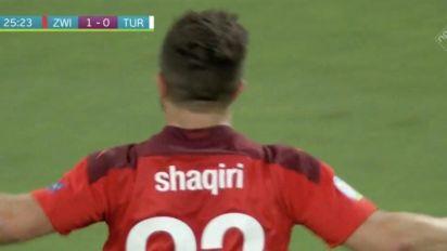 ¡Qué golazo! Shaqiri pone el 2-0 e ilusiona a Suiza